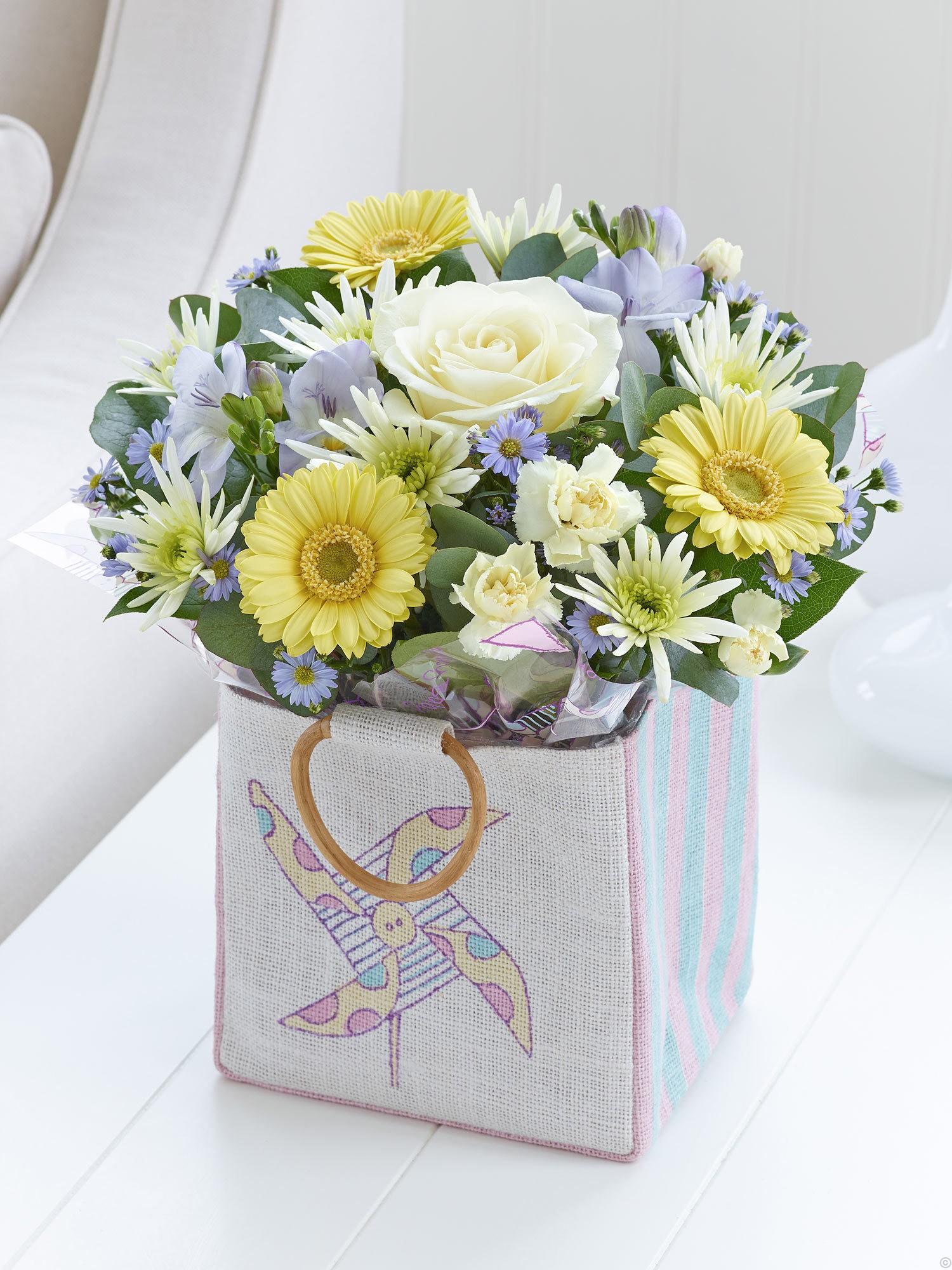 New Born Baby Boy Gifts Uk : Baby boy gift bag sweeneys florist