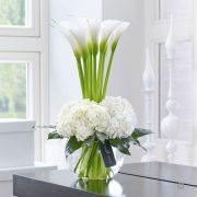 Luxury Calla Lily and Hydrangea Vase