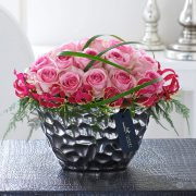 Luxury Pink Rose and Gloriosa Arrangement