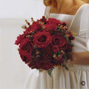 Scarlet Rose & Berry Bridal Bouquet