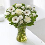 White Sympathy Vase Standard