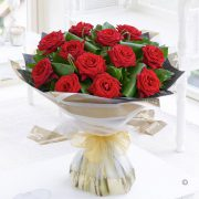 Luxury Long Stem Roses Hand-tied Standard